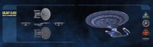 Galaxy Class Starship Dual-Monitor Wallpaper