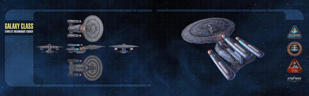 Galaxy Dreadnought Starship Dual-Monitor Wallpaper by thomasthecat