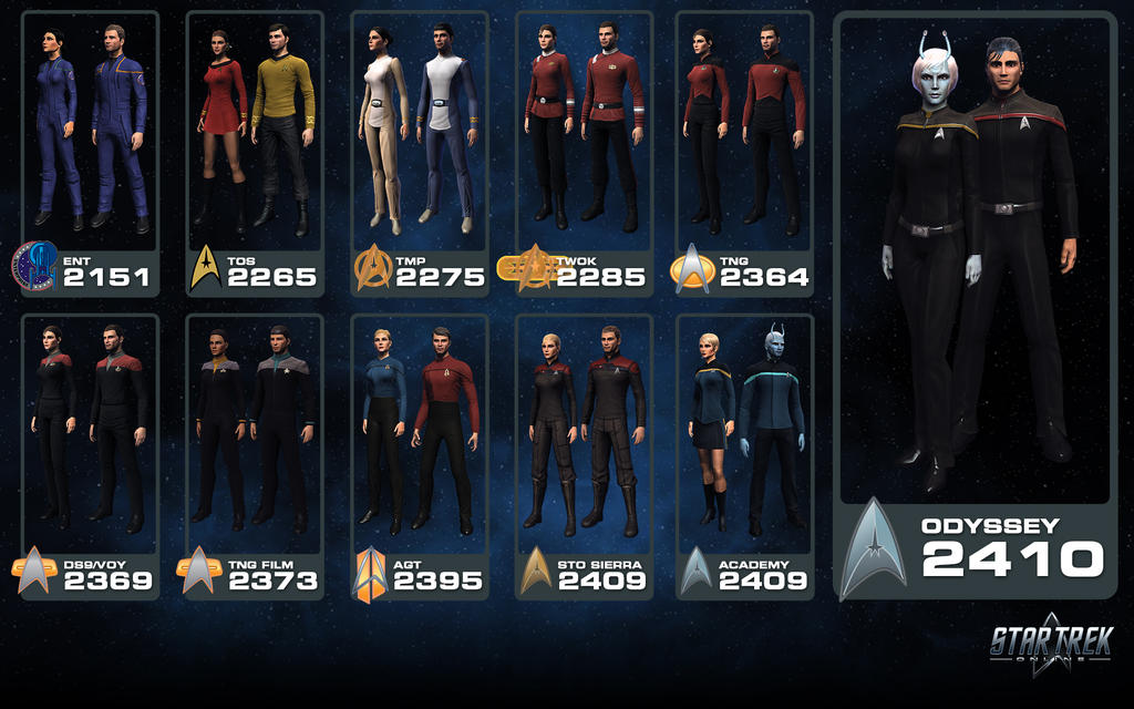 Star Trek Online - Starfleet Uniform Heritage by ...