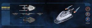 Endeavour Class Starship Dual-Monitor Wallpaper