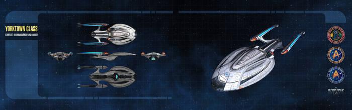 Yorktown Class Starship Dual-Monitor Wallpaper