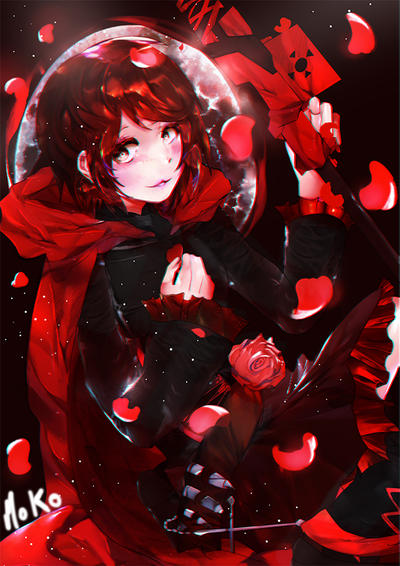 Ruby rose by mokomar on deviantart - Rwby ruby rose fanart ...