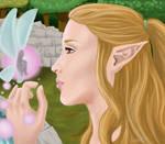 Hylian girl and fairy
