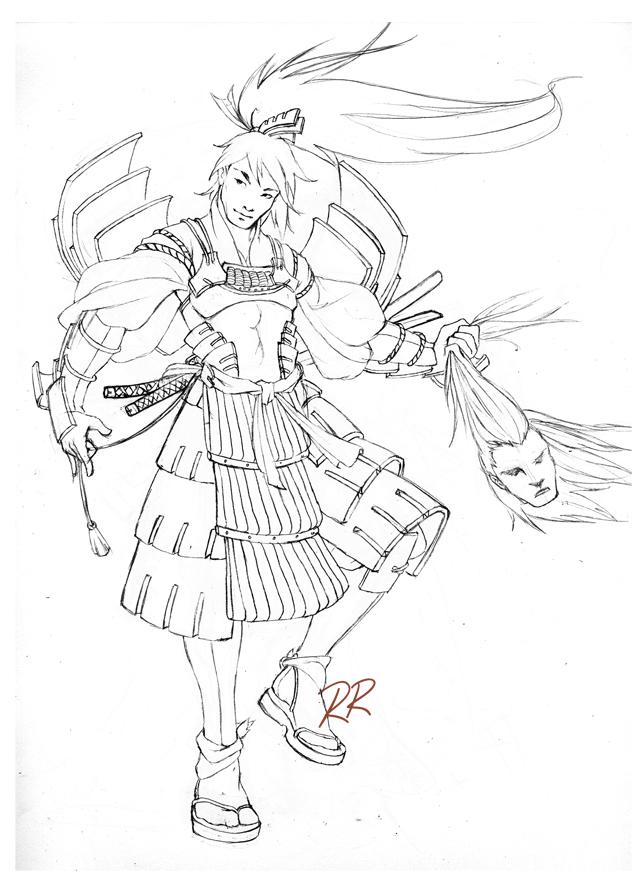 Samurai Smile by YoshiyukiKatana