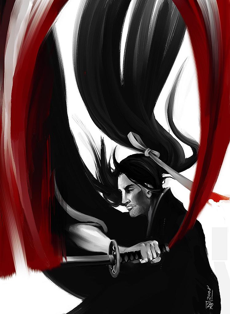 Samurai Red Ribbon Speed Paint by YoshiyukiKatana