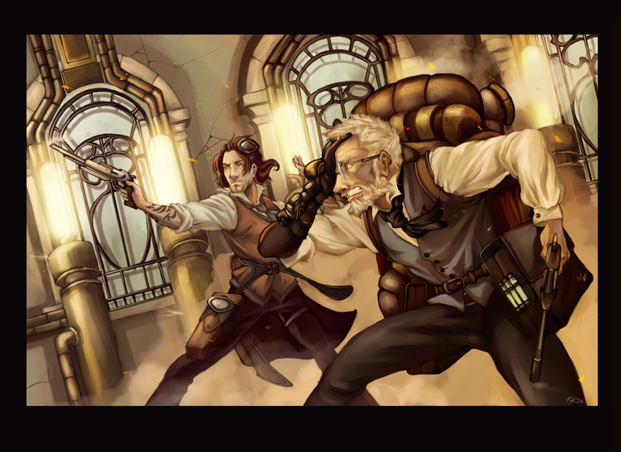 Steampunk Nicolai and Viktor by YoshiyukiKatana
