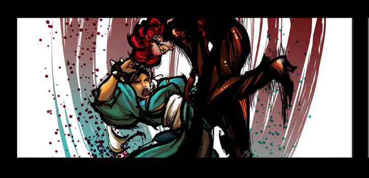 Chun-Li vs. Viper by YoshiyukiKatana