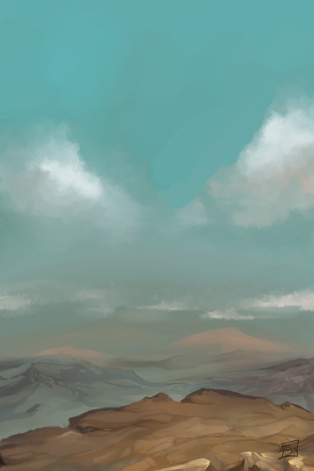 Cliff Landscape by YoshiyukiKatana
