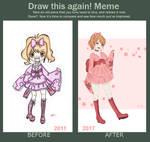 Draw this again Meme - Japanese girl