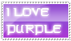 I love purple stamp by Justinuze