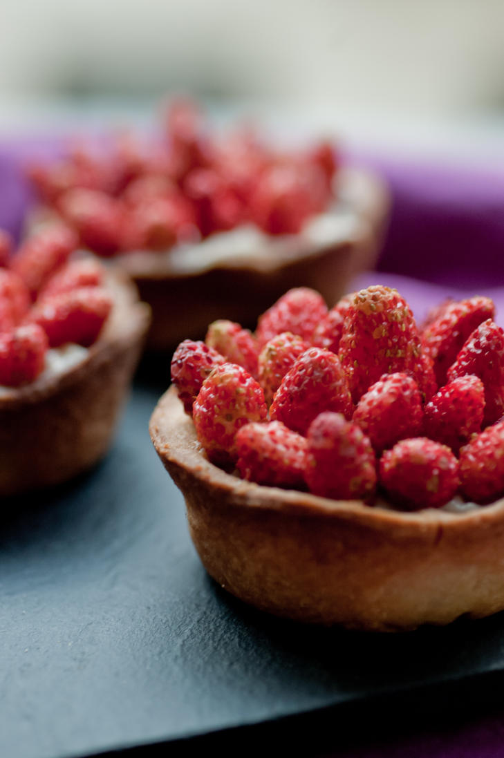 Wild Strawberry Tartlets by bfrena