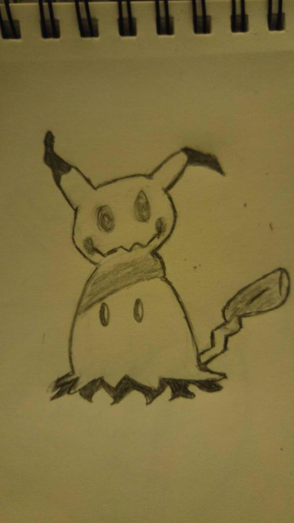 I drew a Mimikyu! by Dimas-Novus