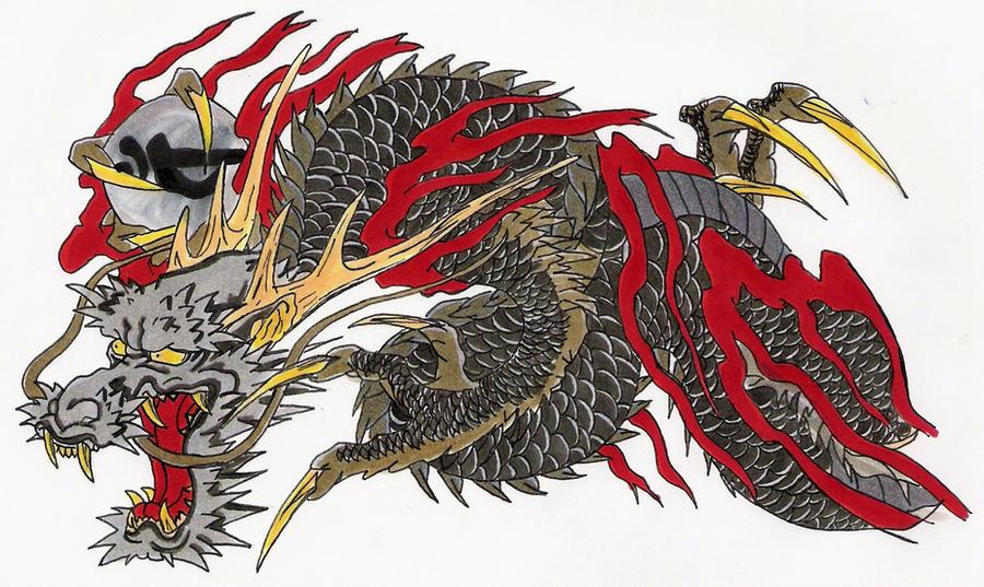 Kiryu Kazuma Tattoo: RYU GA GOTOKU COLOURED By CastielVermillion On DeviantArt