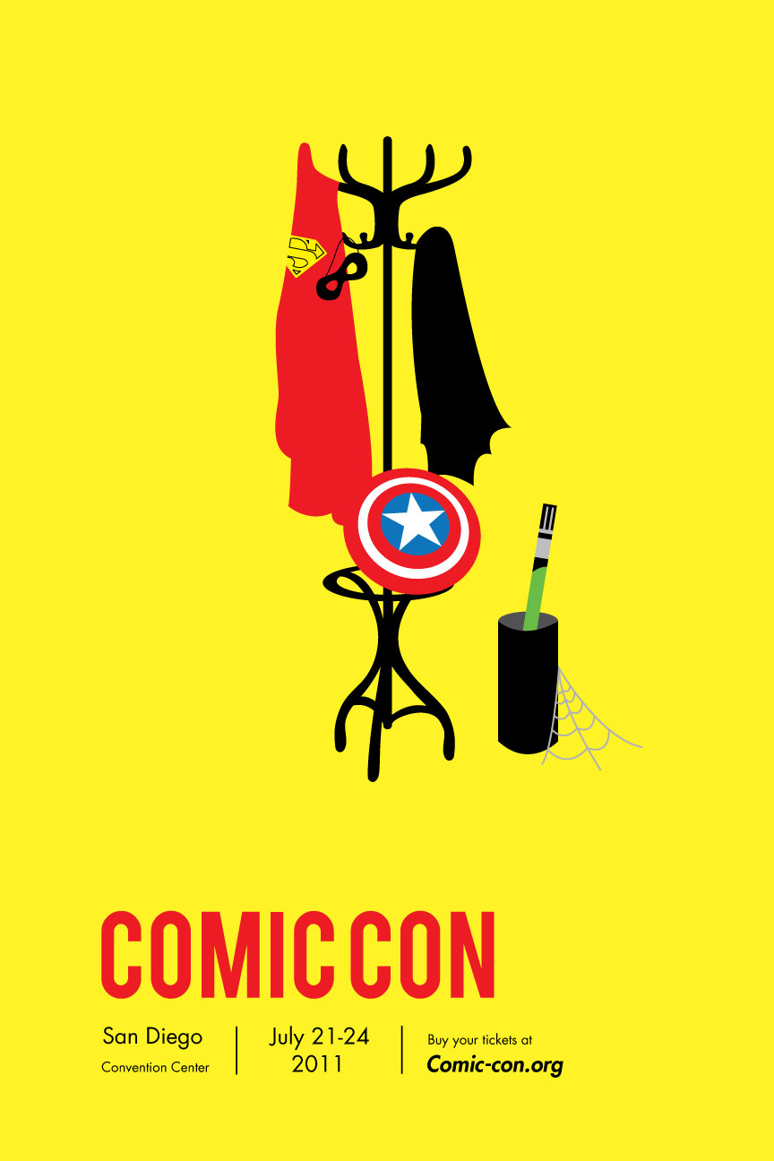 comic con poster by katwoman679 on deviantart. Black Bedroom Furniture Sets. Home Design Ideas