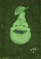 The Biting Pear by Terotopia
