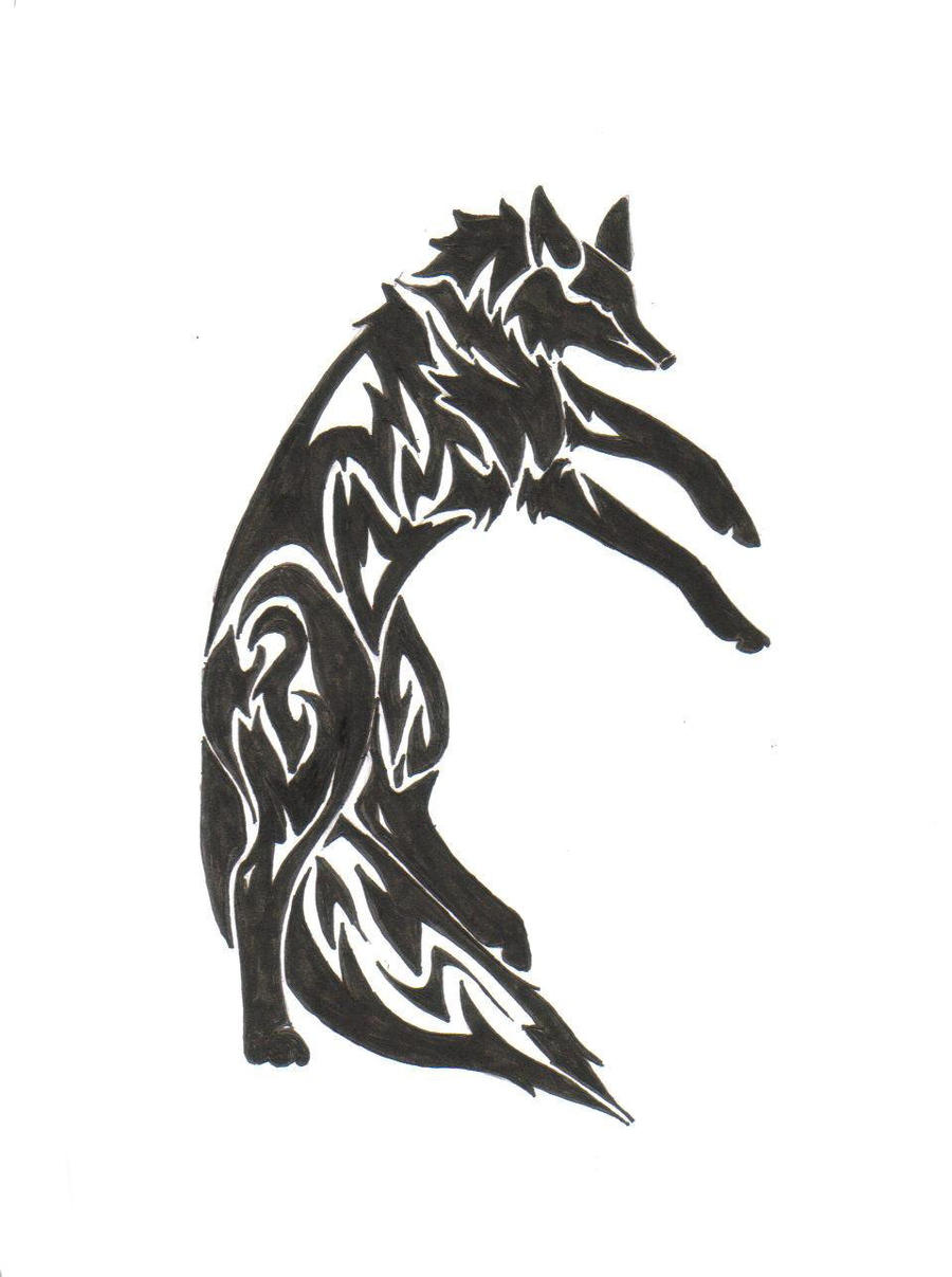 Tribal-Tattoos posing_fox_tribal_tattoo_by_zaiynin-d34fe59