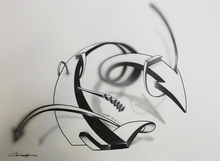 Sharpie Art Focused and Unfocused by PinstripeChris