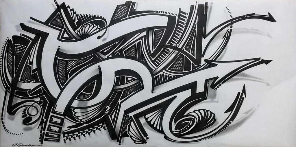 Sharpie Art n' Shadows by PinstripeChris