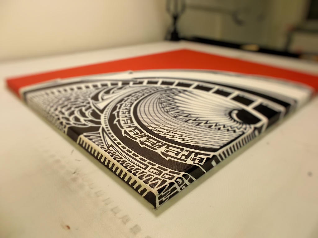 Sharpie Art on Red Canvas (preview) by PinstripeChris