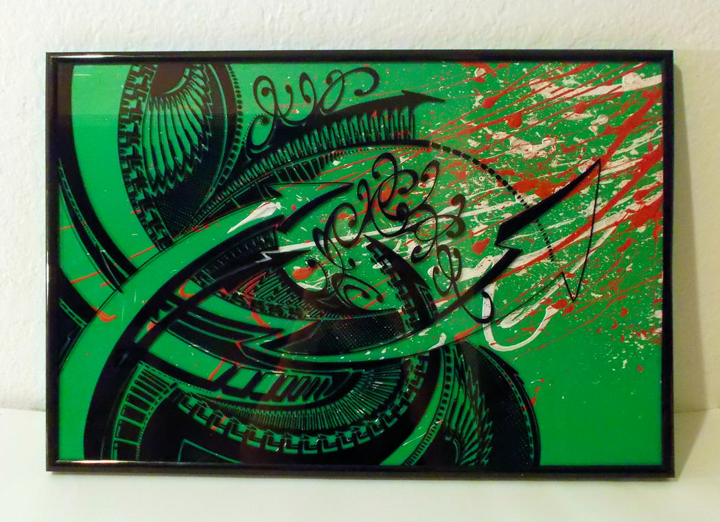 Sharpie Art on Glass (experimental piece) by PinstripeChris