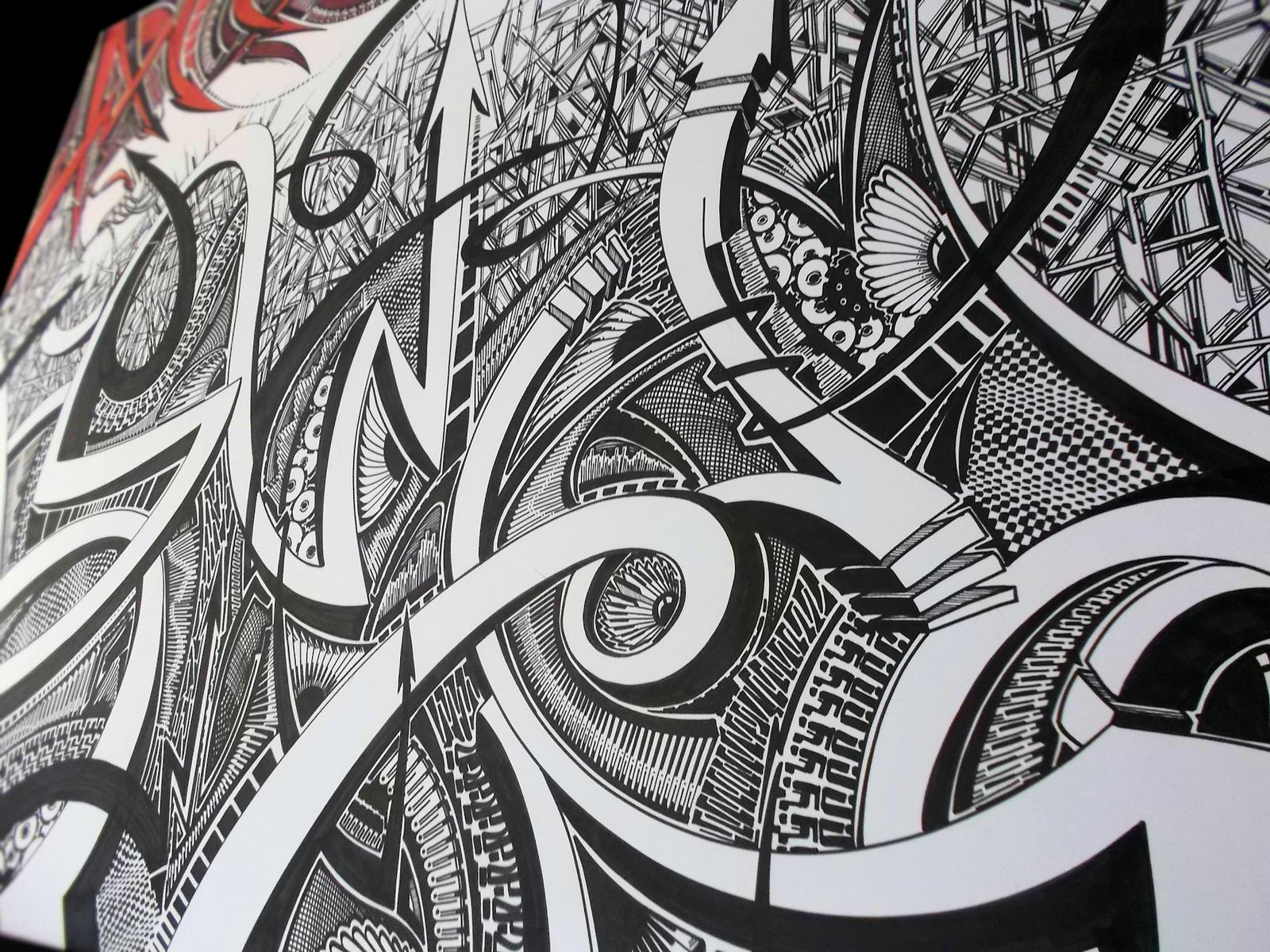 Sharpie Art Close-Up by PinstripeChris