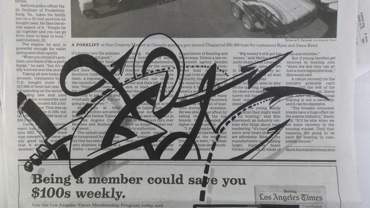Sharpie on Newspaper by PinstripeChris