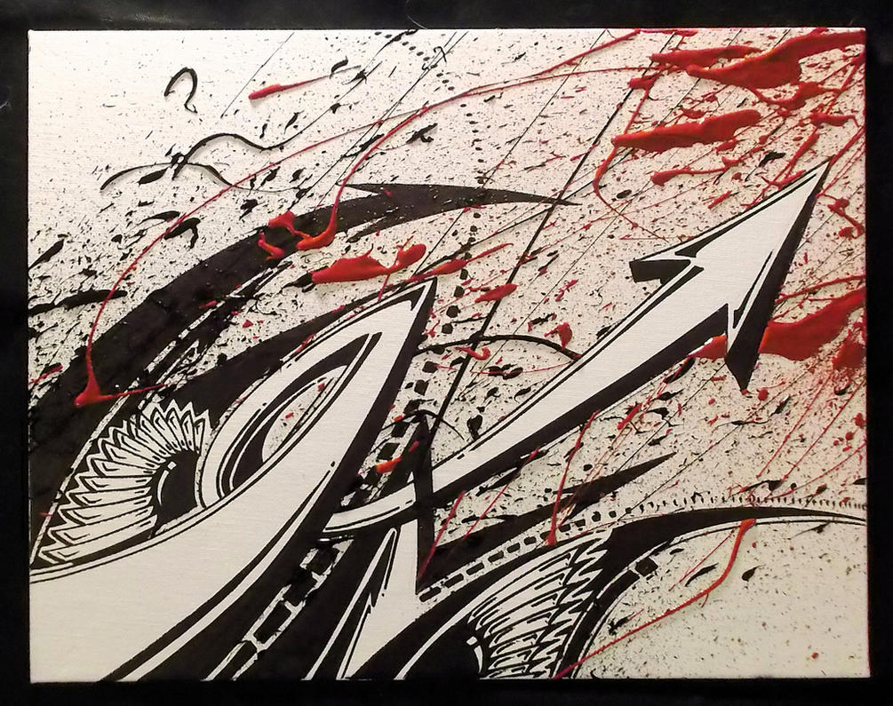 Sharpie and Acrylic Splash by PinstripeChris