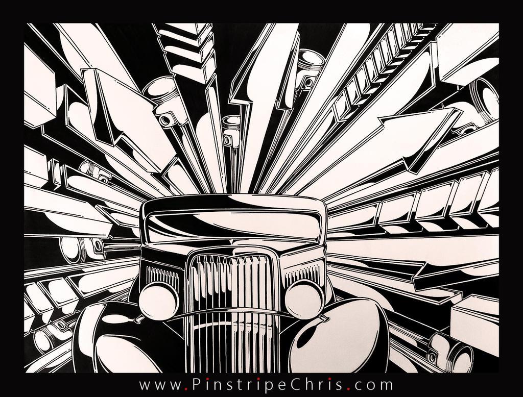 Sharpie Art V-8 by PinstripeChris