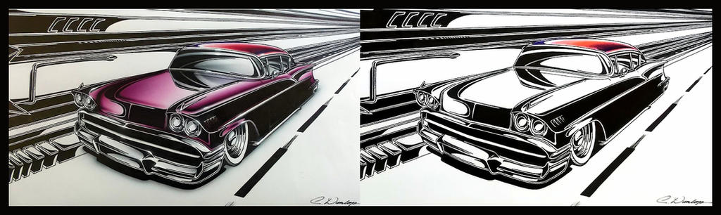 Custom '58 Chevy Art by PinstripeChris