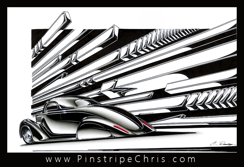 1935 Ford Art by PinstripeChris