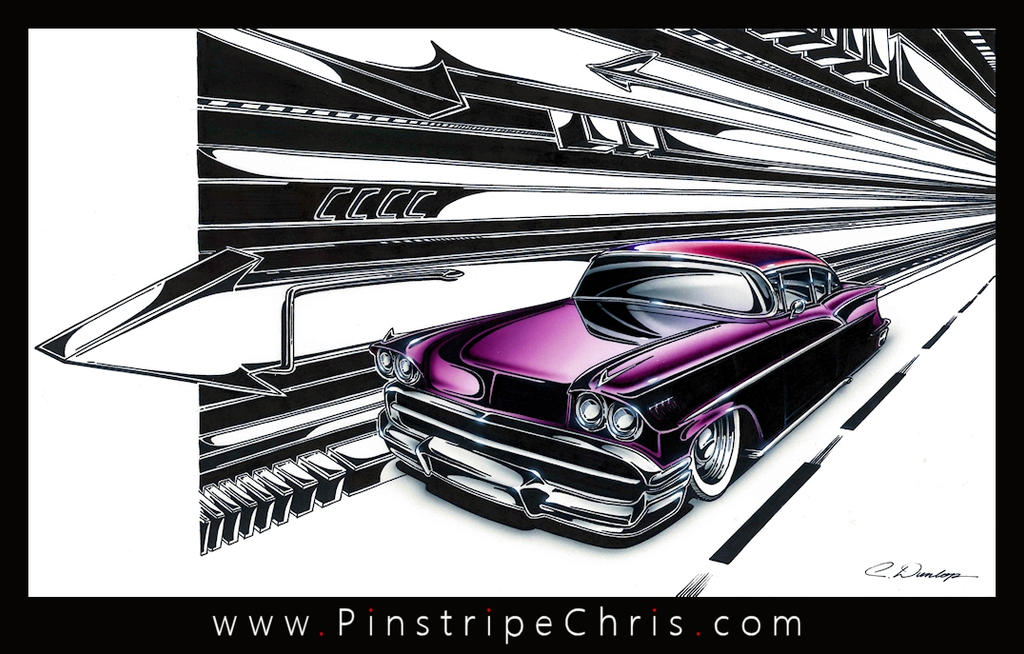 Custom 58 Chevy Art by PinstripeChris