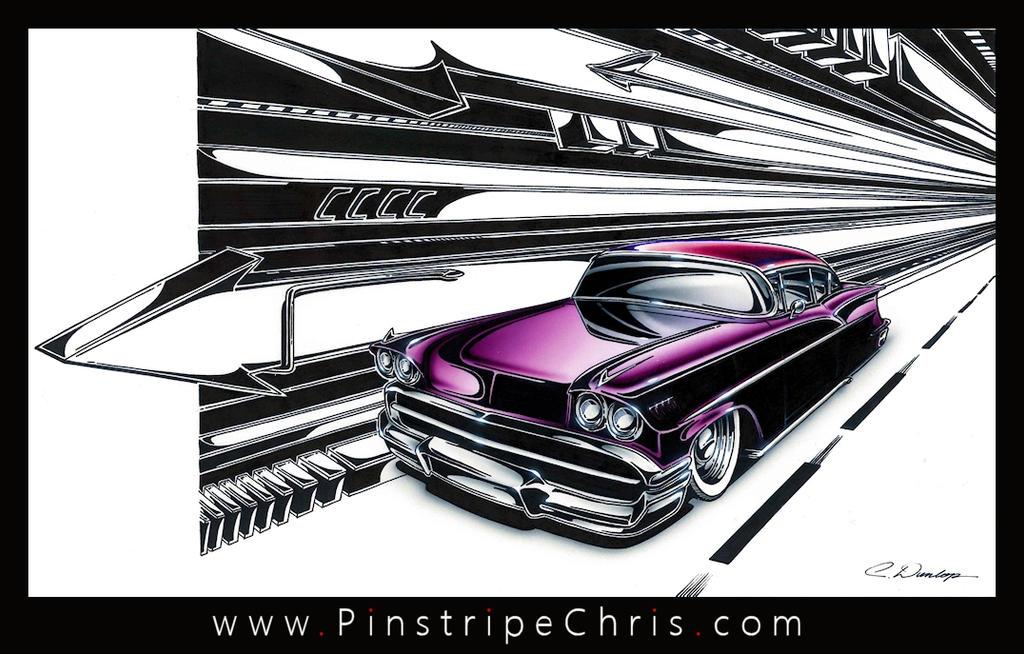 Custom 58 Chevy Art by PinstripeChris