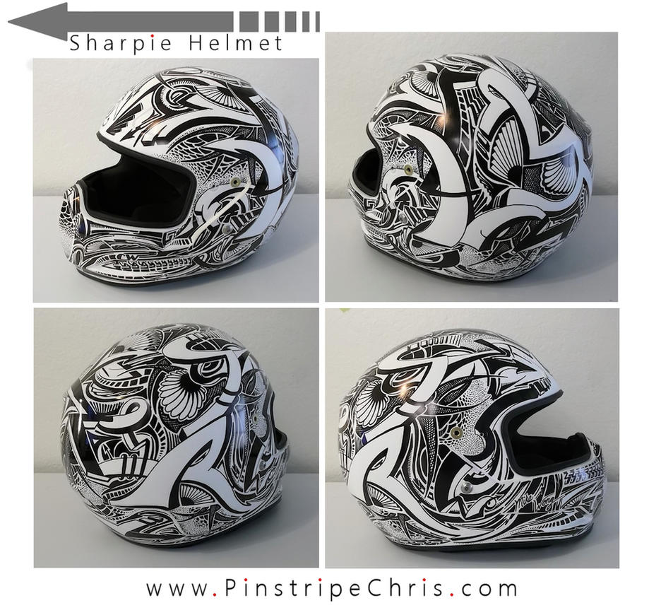 Sharpie Motorcycle Helmet by PinstripeChris