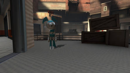 Free Art Character Here with XJ9 by DrewThg2002