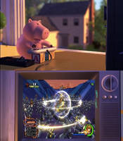 Ham Playing Kingdom Hearts 2