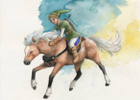 Link and Epona by global-wolf