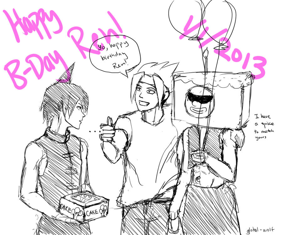 Happy Birthday Ren by global-wolf