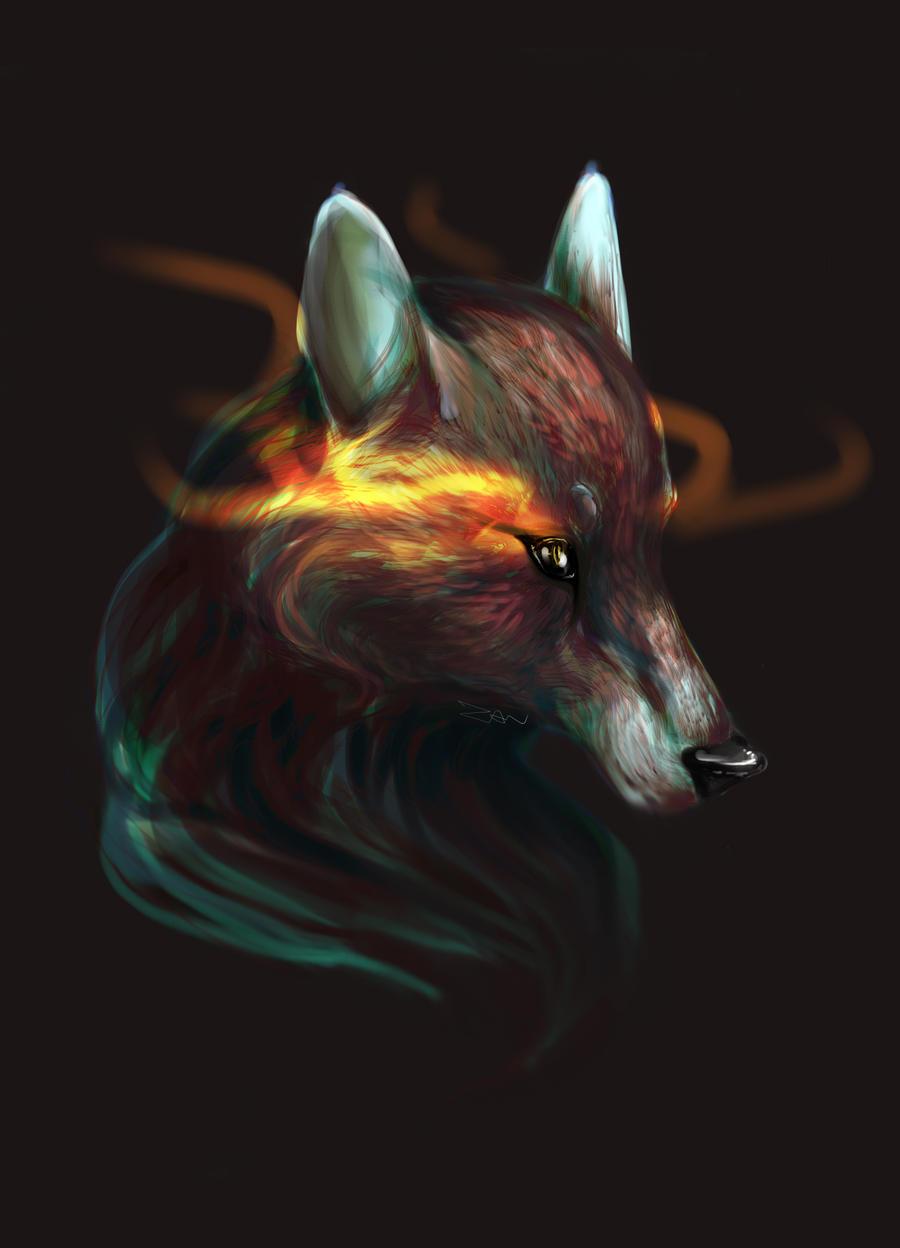 Fox portrait by PorteuseDePeau