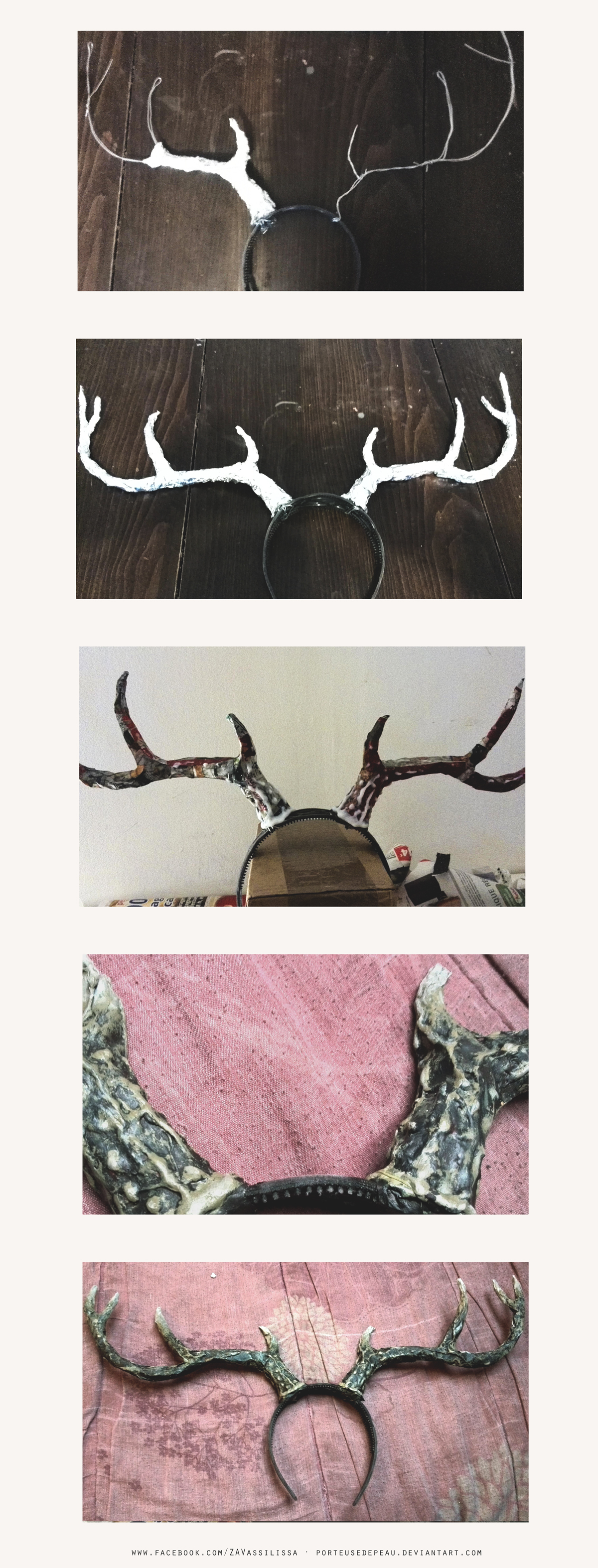 DIY Deer antlers {Step by step} by PorteuseDePeau
