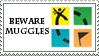 Beware Muggles Stamp by Krisderp