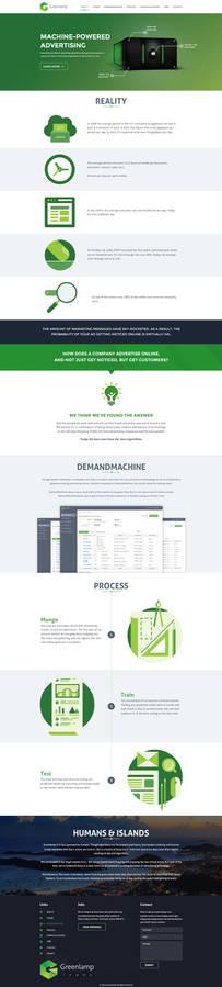 GreenLamp Website Design Mockup
