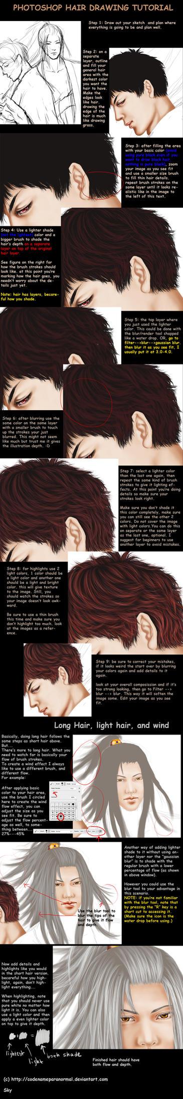 Hair Drawing Tutorial In