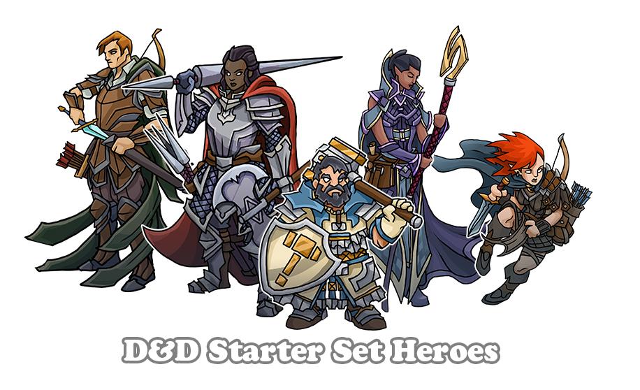 5th Edition Starter Set Heroes by PrintableHeroes on DeviantArt
