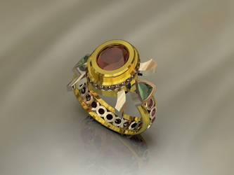 african sunset ring by biltongboy