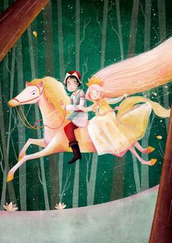el caballo de oro galopa