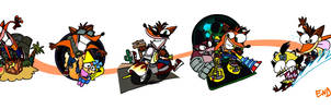 Crash Bandicoot through Time