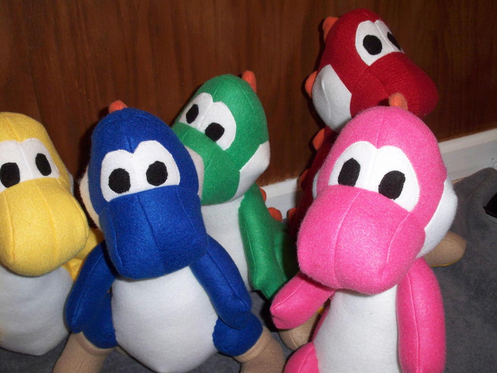yoshi plush template - plush yoshis of many colors by babeedahl on deviantart