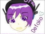Defoko Head Shot (MS Paint) by AskAkita-Neru