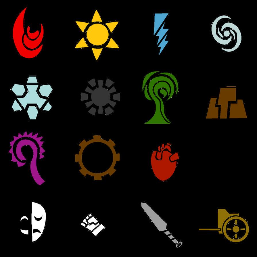 ... symbols displaying 19 images for elemental symbols toolbar creator