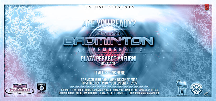 Banner: Badminton PM-USU 2012 by Afiqi